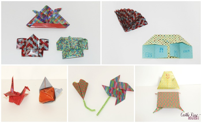 Complete Origami Kit creations at Castle View Academy homeschool