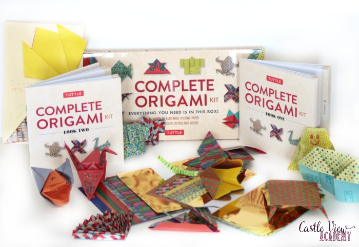 Complete Origami Kits are fun at Castle View Academy homeschool