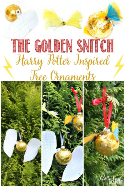 Golden Snitch craft inspired by Harry Potter at Castle View Academy homeschool