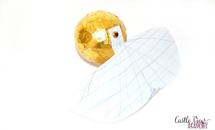 Kid-designed Golden Snitch craft at Castle View Academy