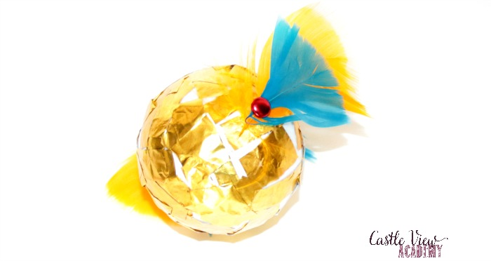 Making a kid-made Golden Snitch at Castle View Academy homeschool