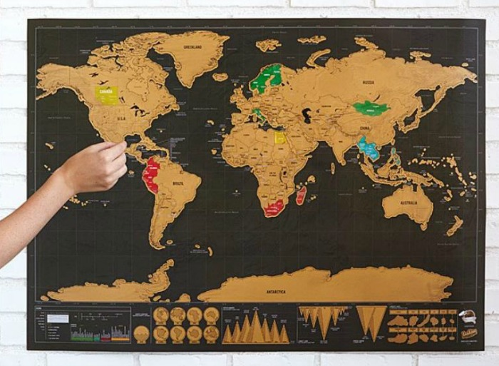 Scratch off map is on Castle View Academy's wish list from Uncommon goods