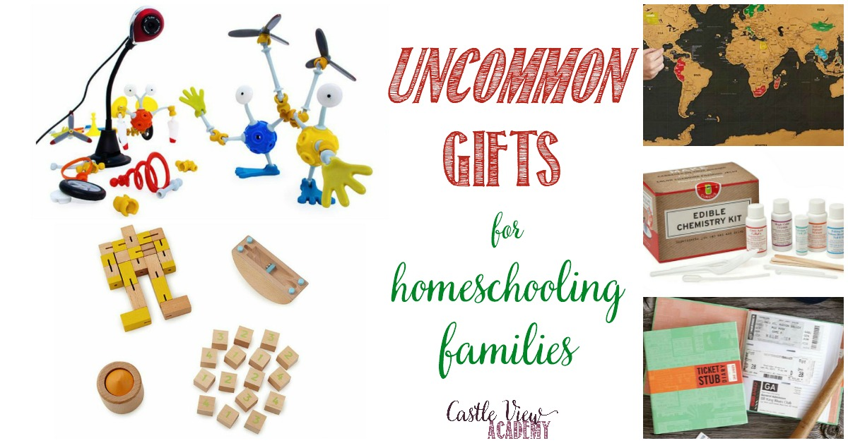Uncommon gifts for the homeschooling family, Castle View Academy's wish list