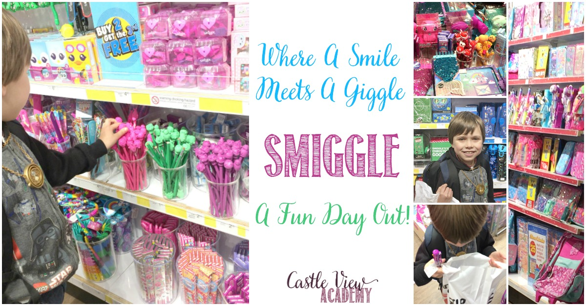 Where a smile meets a giggle, a fun day at Smiggle with Castle View Academy homeschool