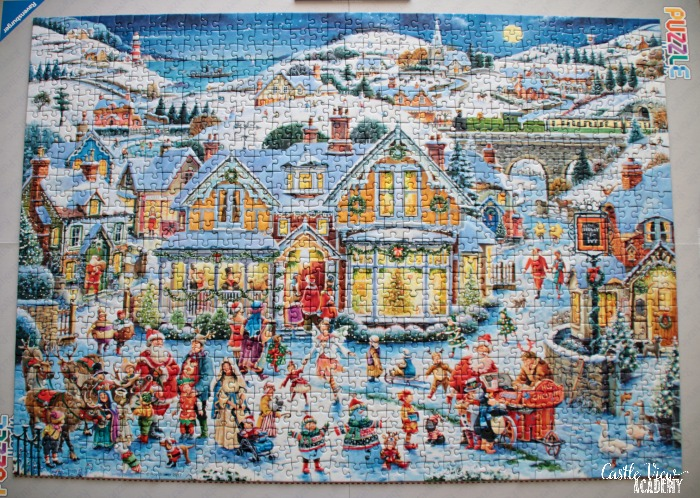 Which One's Santa? puzzle is completed by Castle View Academy homeschool