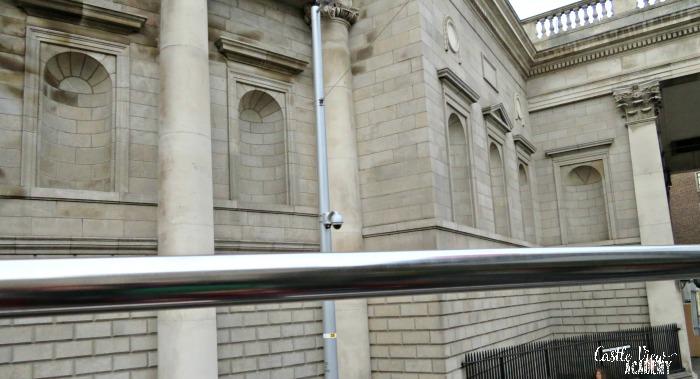 Windowless Bank of Ireland in Dublin, Castle View Academy homeschool