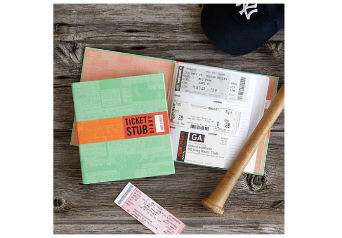 ticket stub diary is on Castle View Academy's wish list from Uncommon goods