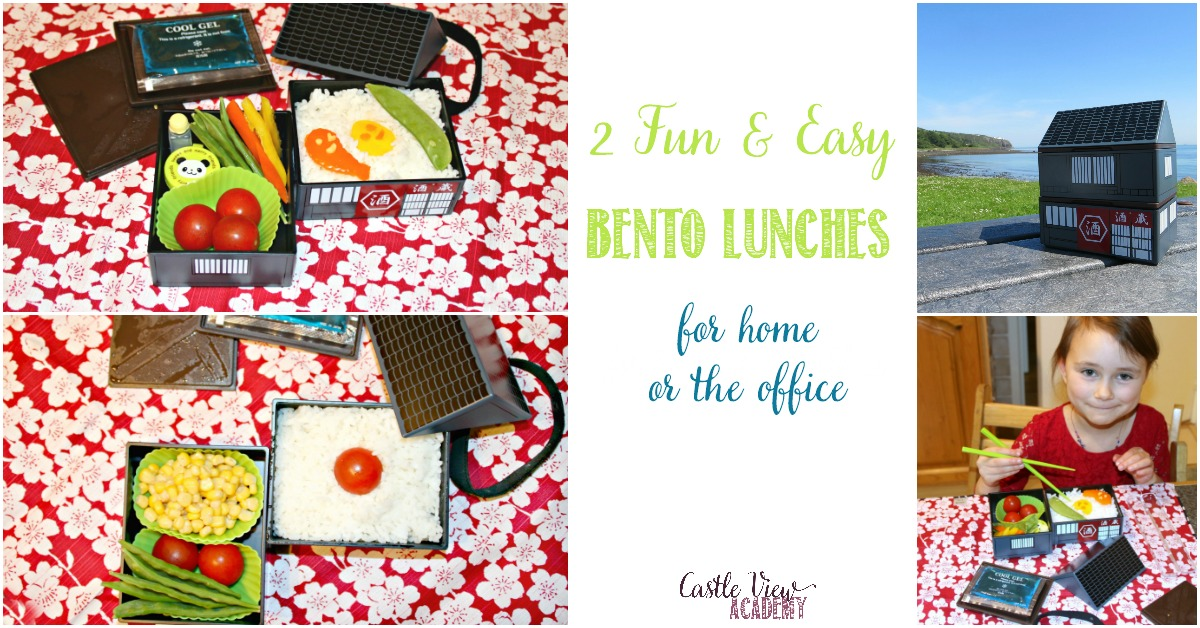 2 fun and easy bento lunches at Castle View Academy homeschool