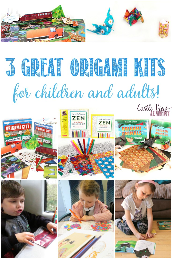3 Great Origami Kits for kids and adults by Tuttle Publishing, reviewed by Castle View Academy homeschool
