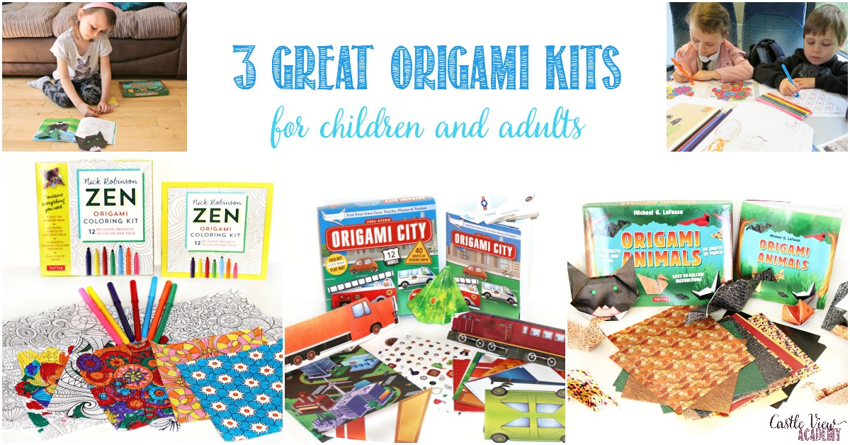 3 Great Origami Kits for kids and adults by Tuttle Publishing, reviewed by Castle View Academy