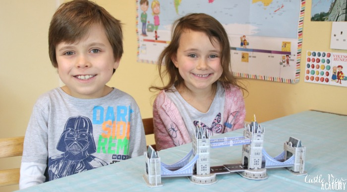 3D Tower Bridge from Mysteries In Time at Castle View Academy homeschool