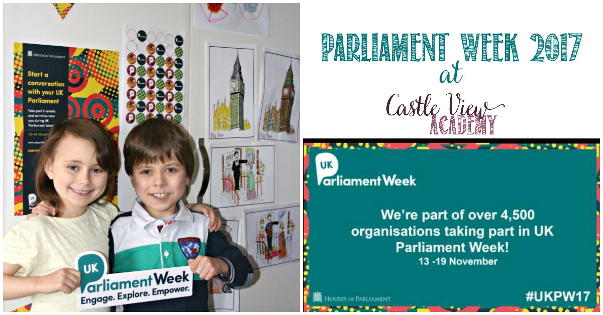 Castle View Academy homeschool participates in Parliament Week 2017
