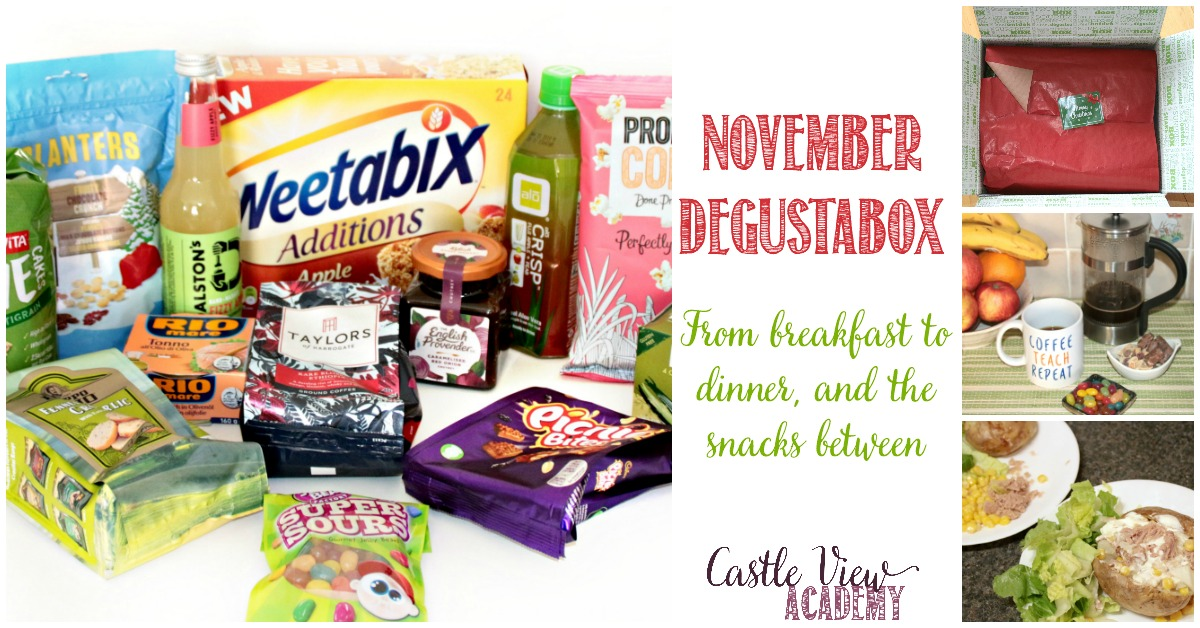 Castle View Academy reveals the contents of the November Dugustabox