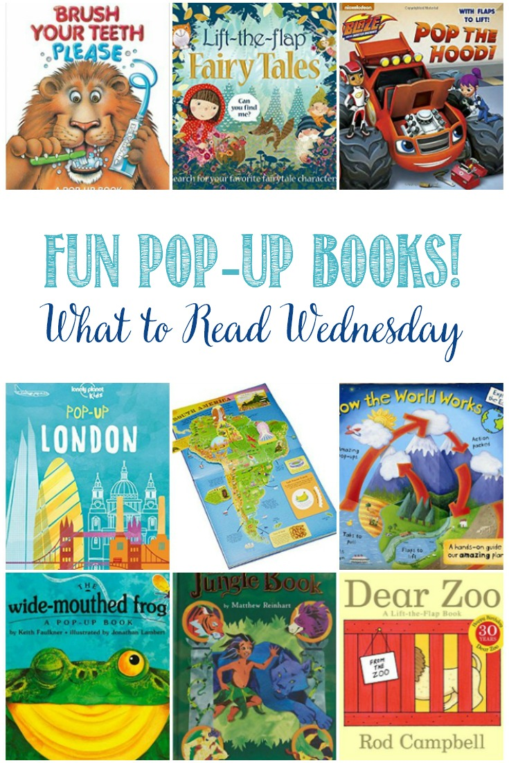 Here's a fun collection of kids pop-up books to keep the kids entertained while learning and having fun reading.