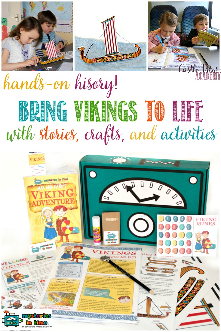 The whole family has enjoyed the Mysteries In Time Viking Explorers box! It can be used alone or with other resources to create a unit study about Vikings! Read the Castle View Academy homeschool review here.