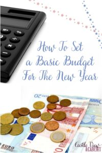 How To Set a Basic Budget For The New Year with Castle View Academy homeschool