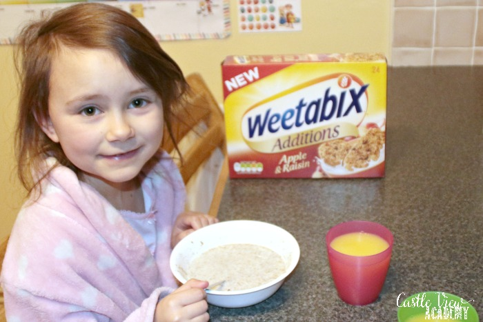 It's a Weetabix breakfast at Castle View Academy homeschool