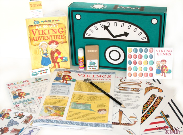 Mysteries In Time Vikings box contents at Castle View Academy