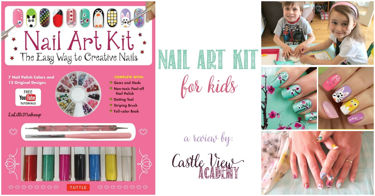 Nail Art Kit For Kids, a review by Castle View Academy homeschool