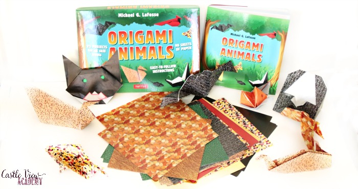 Origami Animals kit contents and projects at Castle View Academy homeschool
