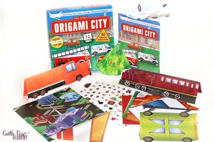 Origami City kit contents and projects at Castle View Academy homeschool