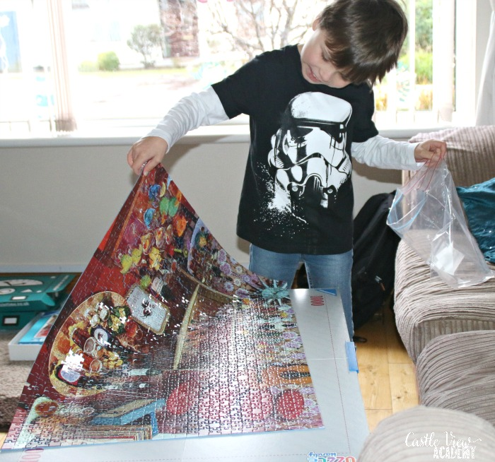 Ravensburgers puzzles are magical! Castle View Academy homeschool