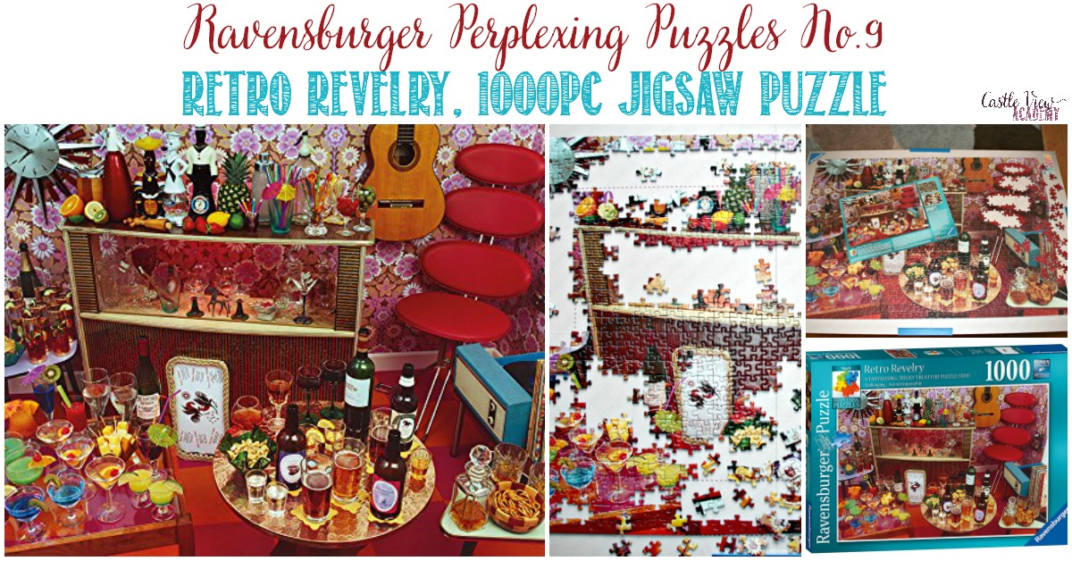Retro Revelry Jigsaw Puzzle review at Castle View Academy homeschool