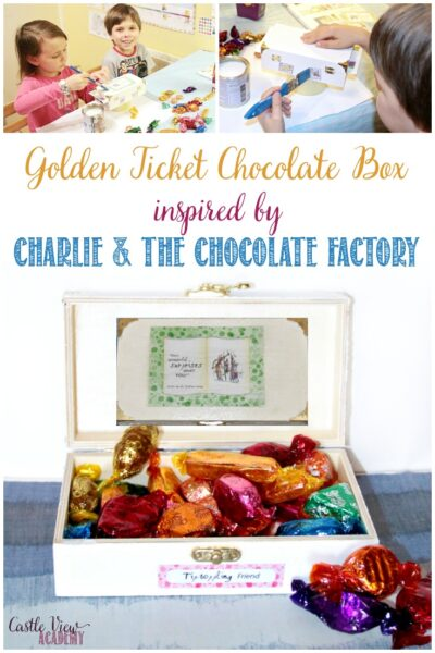 Roald Dahl craft from Charlie and The Chocolate Factory, a chocolate box by Castle View Academy