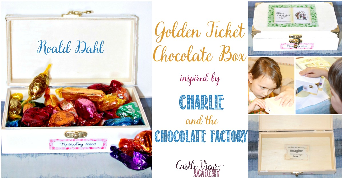 Roald Dahl craft from Charlie and The Chocolate Factory, a chocolate box by Castle View Academy homeschool