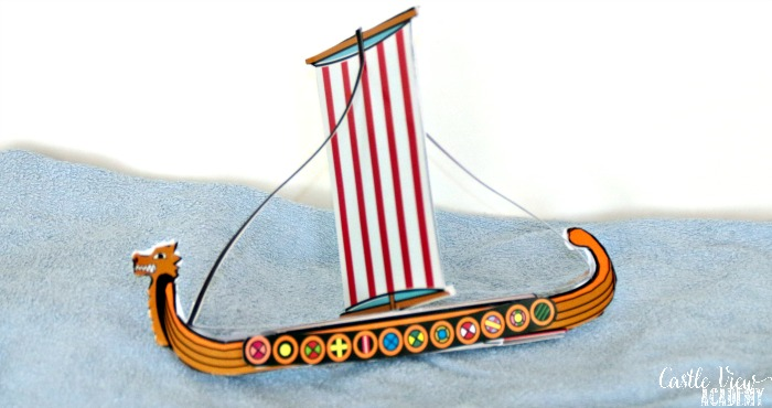 Viking Longboat craft from Mysteries In Time at Castle View Academy homeschool