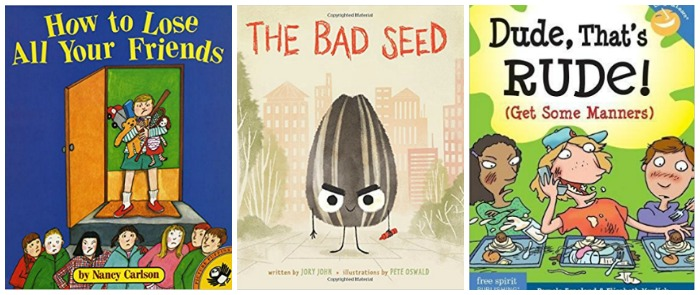 books about bad manners at Castle View Academy homeschool