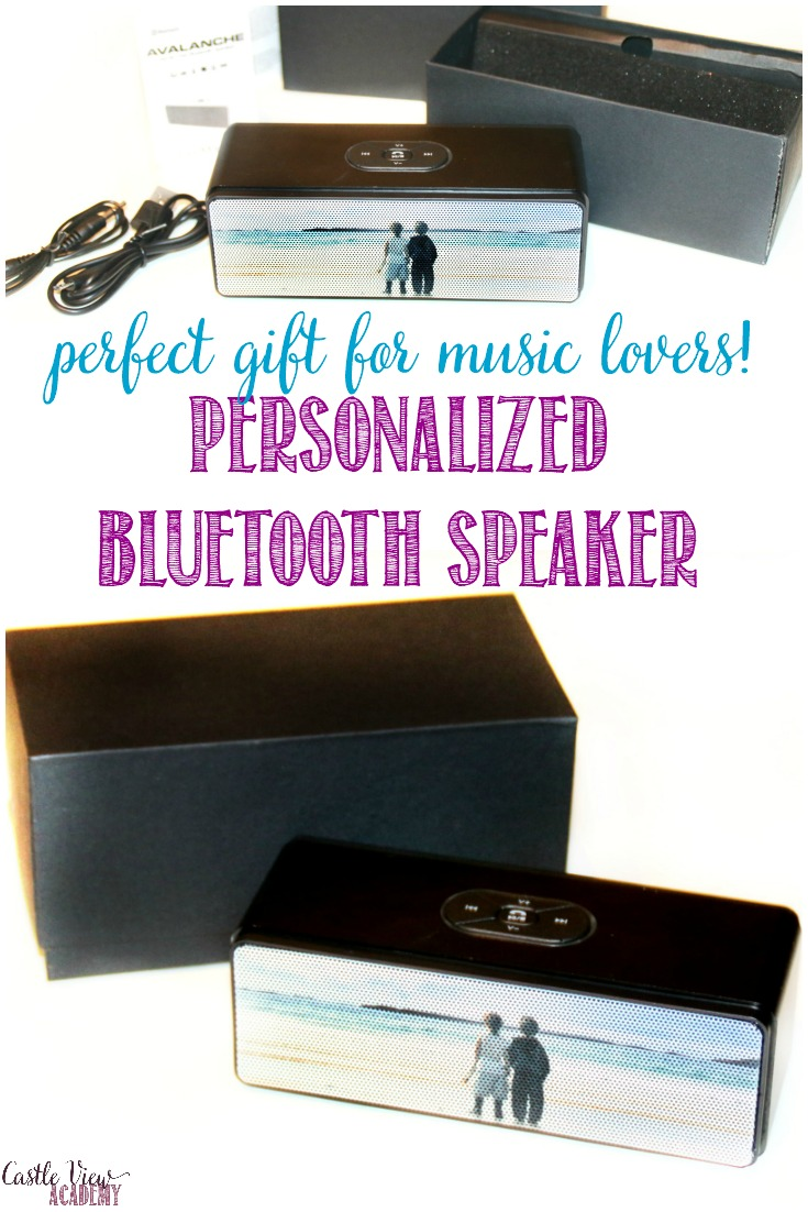 Small but mighty personalized bluetooth speaker from gocustomized is a perfect gift for music lovers of all ages! Read our review for info at Castle View Academy homeschool