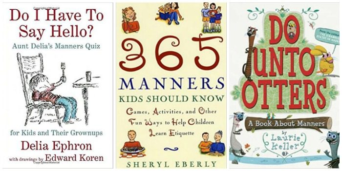 kids books about good manners at Castle View Academy homeschool