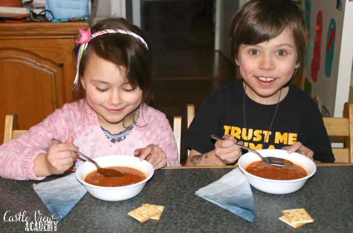 Castle View Academy has the best tomato and lentil soup recipe