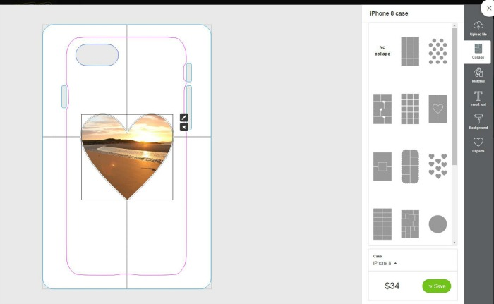 Designing a phone case at Castle View Academy through CaseApp