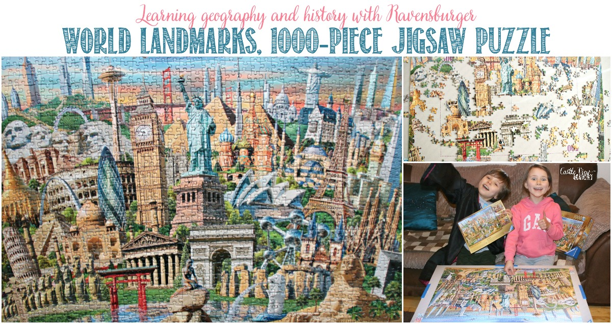 Learning history and geography with a World Landmarks puzzle at Castle View Academy