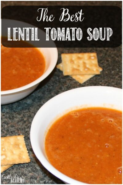 The Best Lentil Tomato Soup Ever at Castle View Academy Homeschool