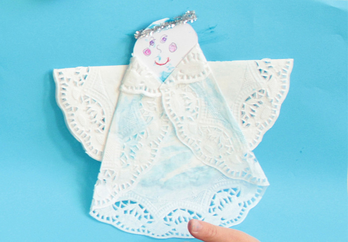 Angel from a doily
