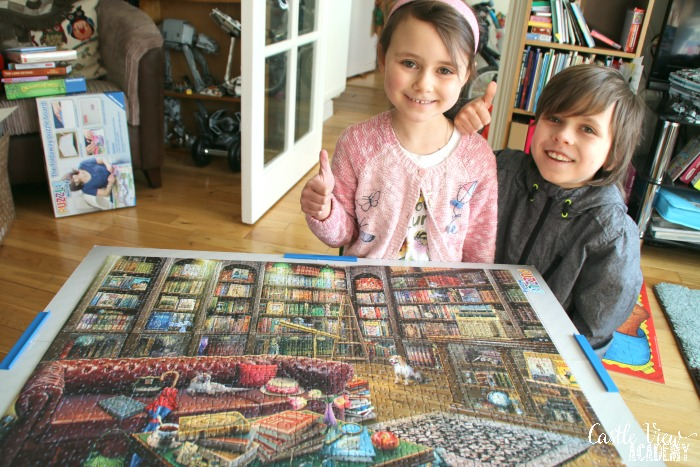 Castle View Academy finishes Ravensburger Reading Room jigsaw puzzle