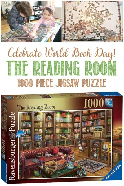 Castle View Academy homeschool reviews Ravensburger's The Reading Room Puzzle for World Book Day
