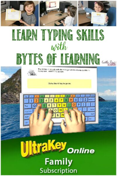 Castle View Academy homeschool reviews Ultrakey Online typing course