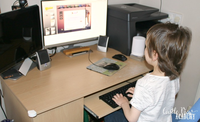 Castle View Academy learning to type with Ultrakey Online