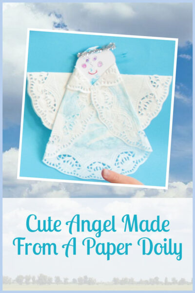 Cute angel from a paper doily