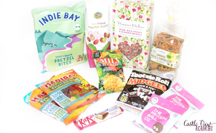 Degustabox contents for February at Castle View Academy