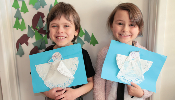 Finished Doily Angels