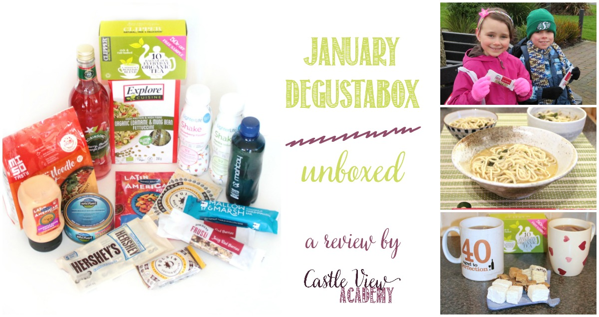 January Degustabox unboxed at Castle View Academy homeschool