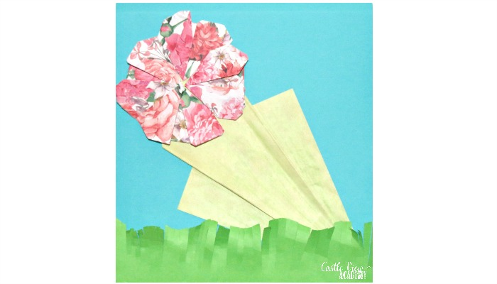 Origami Flowers for your Valentine at Castle View Academy homeschool