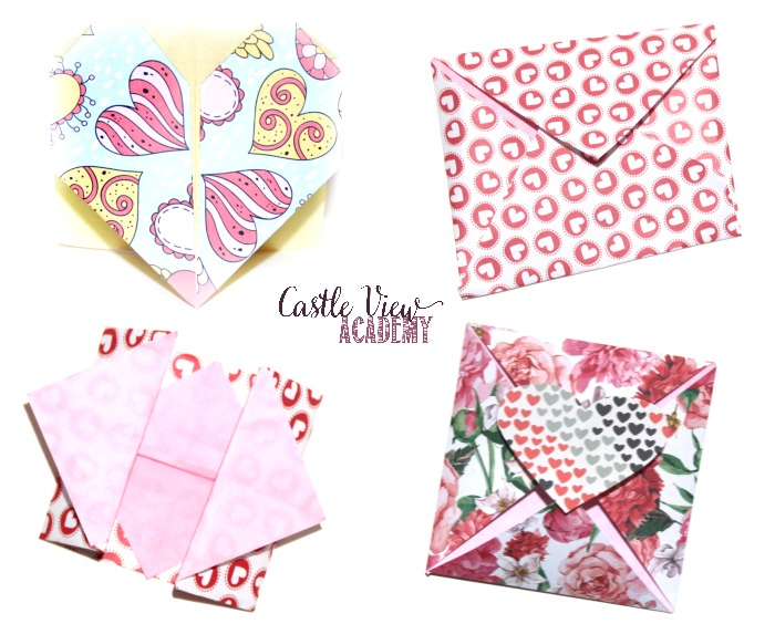 Origami Love Notes for a loved one at Castle View Academy homeschool