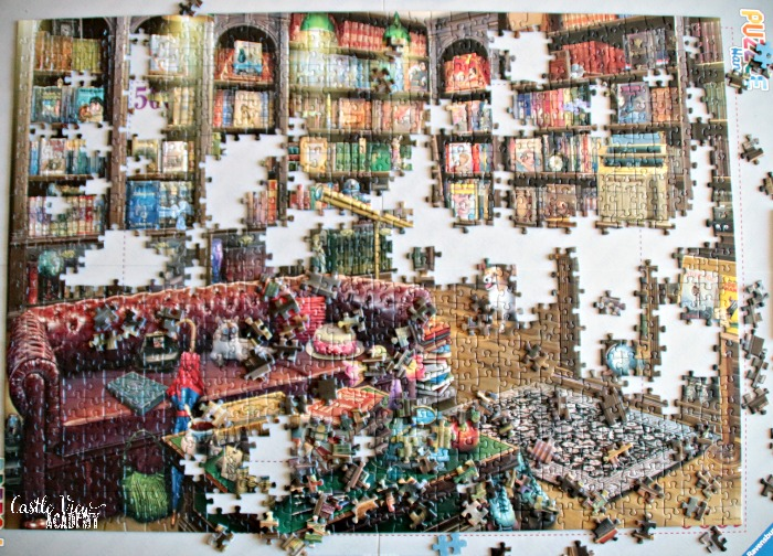 Puzzles for Book Day are a great way to spend the weekend at Castle View Academy homeschool