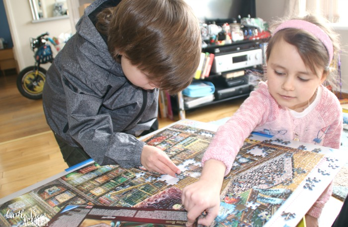 Reading Room puzzle is fun for the family at Castle View Academy homeschool